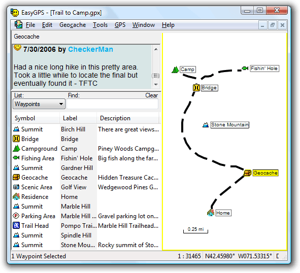Screenshot of EasyGPS