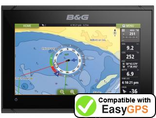 Download your B&G Vulcan 9 waypoints and tracklogs for free with EasyGPS
