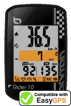 Download your Bryton Rider 10 waypoints and tracklogs for free with EasyGPS
