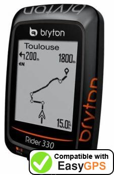 Download your Bryton Rider 330 waypoints and tracklogs for free with EasyGPS