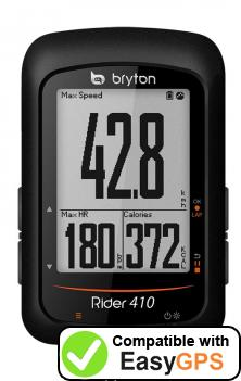 Download your Bryton Rider 410 waypoints and tracklogs for free with EasyGPS