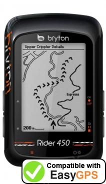 Download your Bryton Rider 450 waypoints and tracklogs for free with EasyGPS