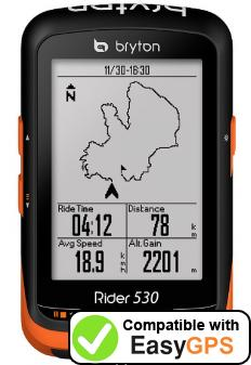 Download your Bryton Rider 530 waypoints and tracklogs for free with EasyGPS