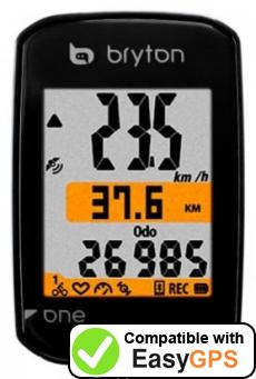 Download your Bryton Rider one waypoints and tracklogs for free with EasyGPS
