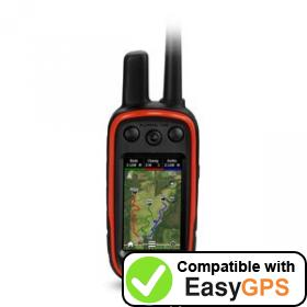 Download your Garmin Alpha 100 waypoints and tracklogs for free with EasyGPS