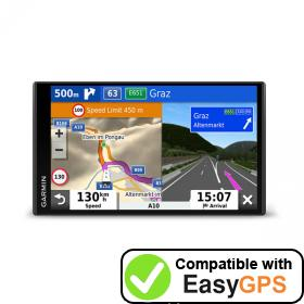Download your Garmin Camper 780 waypoints and tracklogs for free with EasyGPS