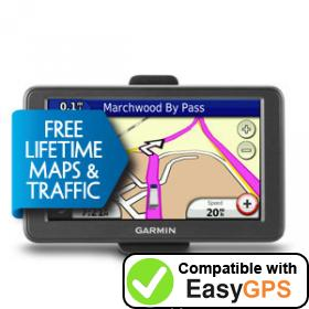 Download your Garmin dēzl 560LMT Camper Deluxe waypoints and tracklogs for free with EasyGPS