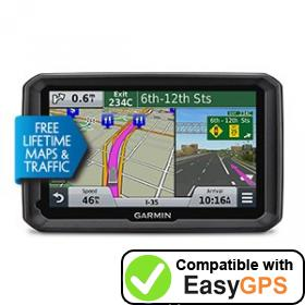 Download your Garmin dēzl 570LMT waypoints and tracklogs for free with EasyGPS
