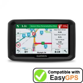 Download your Garmin dēzl 580 LMT-S waypoints and tracklogs for free with EasyGPS