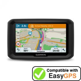Download your Garmin dēzl 580 waypoints and tracklogs for free with EasyGPS
