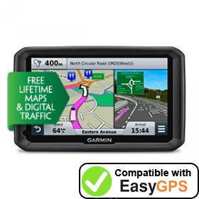 Download your Garmin dēzl 770LMT-D waypoints and tracklogs for free with EasyGPS