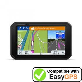 Download your Garmin dēzl 780 waypoints and tracklogs for free with EasyGPS