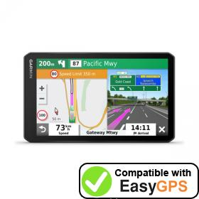 Download your Garmin dēzl LGV700 waypoints and tracklogs for free with EasyGPS