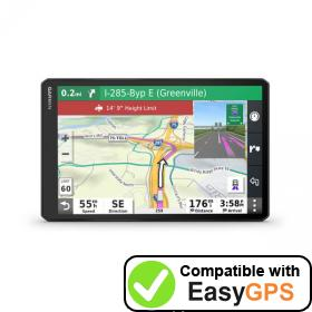 Download your Garmin dēzl OTR1000 waypoints and tracklogs for free with EasyGPS