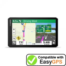 Download your Garmin dēzl OTR700 waypoints and tracklogs for free with EasyGPS