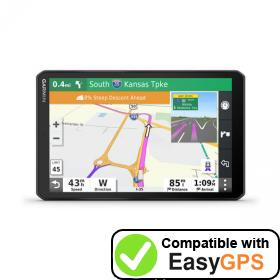 Download your Garmin dēzl OTR800 waypoints and tracklogs for free with EasyGPS