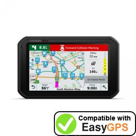 Download your Garmin dēzlCam 785 LMT-S waypoints and tracklogs for free with EasyGPS