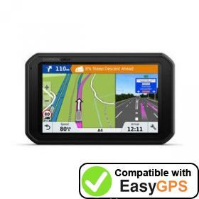 Download your Garmin dēzlCam 785 waypoints and tracklogs for free with EasyGPS