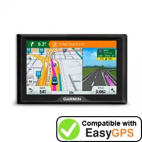 Download your Garmin Drive 40 waypoints and tracklogs for free with EasyGPS