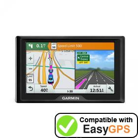 Download your Garmin Drive 5 waypoints and tracklogs for free with EasyGPS