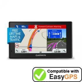 Download your Garmin DriveAssist 51 LMT-D waypoints and tracklogs for free with EasyGPS
