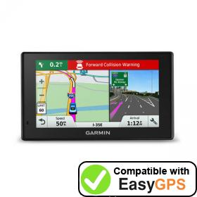 Download your Garmin DriveAssist 51 LMTHD waypoints and tracklogs for free with EasyGPS
