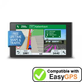Download your Garmin DriveLuxe 51 LMT-D waypoints and tracklogs for free with EasyGPS