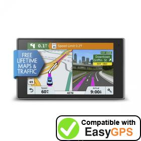 Download your Garmin DriveLuxe 51 LMT-S waypoints and tracklogs for free with EasyGPS