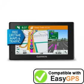 Download your Garmin DriveSmart 5 LMT waypoints and tracklogs for free with EasyGPS