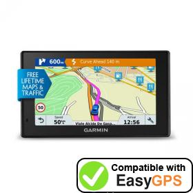 Download your Garmin DriveSmart 51 LMT-D waypoints and tracklogs for free with EasyGPS