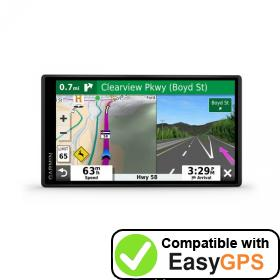 Download your Garmin DriveSmart 55 EX waypoints and tracklogs for free with EasyGPS