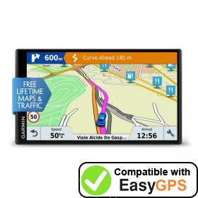Download your Garmin DriveSmart 61 LMT-D waypoints and tracklogs for free with EasyGPS