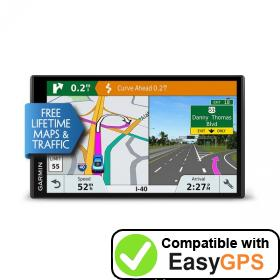 Download your Garmin DriveSmart 61 LMT-S waypoints and tracklogs for free with EasyGPS