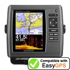 Download your Garmin echoMAP 50dv waypoints and tracklogs for free with EasyGPS