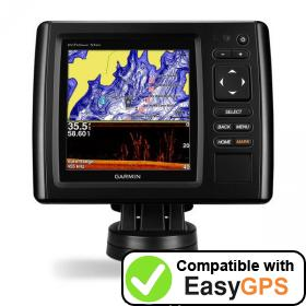 Download your Garmin echoMAP CHIRP 53dv waypoints and tracklogs for free with EasyGPS