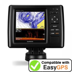 Download your Garmin echoMAP CHIRP 55dv waypoints and tracklogs for free with EasyGPS