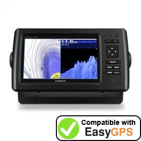 Download your Garmin echoMAP CHIRP 72cv waypoints and tracklogs for free with EasyGPS