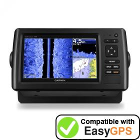 Download your Garmin echoMAP CHIRP 72sv waypoints and tracklogs for free with EasyGPS