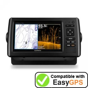 Download your Garmin echoMAP CHIRP 73dv waypoints and tracklogs for free with EasyGPS