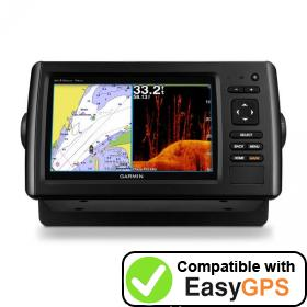 Download your Garmin echoMAP CHIRP 74dv waypoints and tracklogs for free with EasyGPS