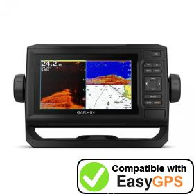 Download your Garmin ECHOMAP Plus 62cv waypoints and tracklogs for free with EasyGPS