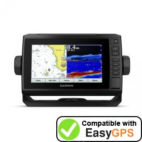 Download your Garmin ECHOMAP Plus 72cv waypoints and tracklogs for free with EasyGPS