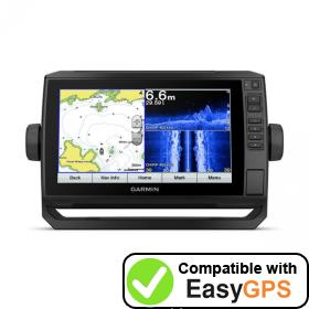 Download your Garmin ECHOMAP Plus 97sv waypoints and tracklogs for free with EasyGPS