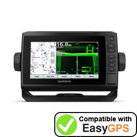 Download your Garmin ECHOMAP UHD 72sv waypoints and tracklogs for free with EasyGPS
