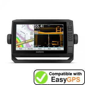 Download your Garmin ECHOMAP UHD 93sv waypoints and tracklogs for free with EasyGPS