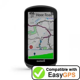 Download your Garmin Edge 1030 Plus waypoints and tracklogs for free with EasyGPS