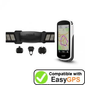 Download your Garmin Edge 1030 waypoints and tracklogs for free with EasyGPS