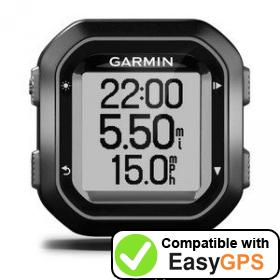 Download your Garmin Edge 20 waypoints and tracklogs for free with EasyGPS