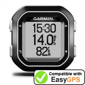 Download your Garmin Edge 25 waypoints and tracklogs for free with EasyGPS