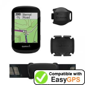 Download your Garmin Edge 530 waypoints and tracklogs for free with EasyGPS